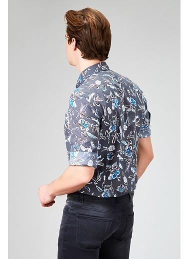 Avva Desenli Uzun Kollu Gömlek Haki